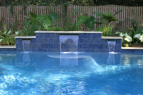 Waterside pools and spas swimming pools valier il phone number yelp - Rectangle pool with water feature ...