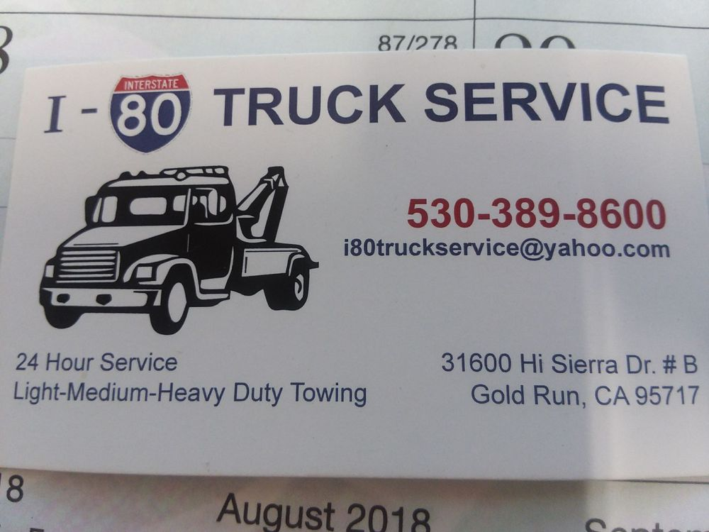 I-80 Truck Service: 31600 Hi Sierra Dr, Gold Run, CA