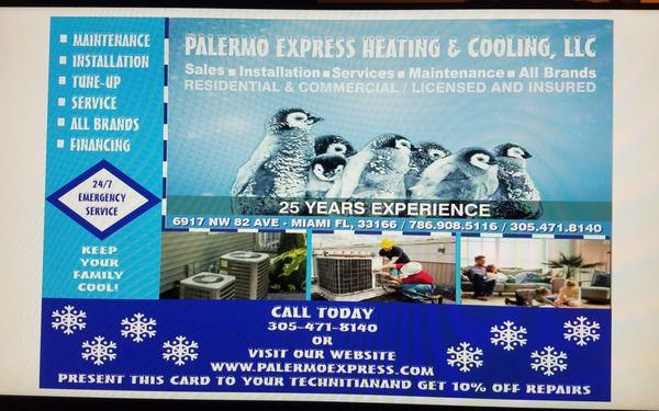 Palermo Express Heating & Cooling
