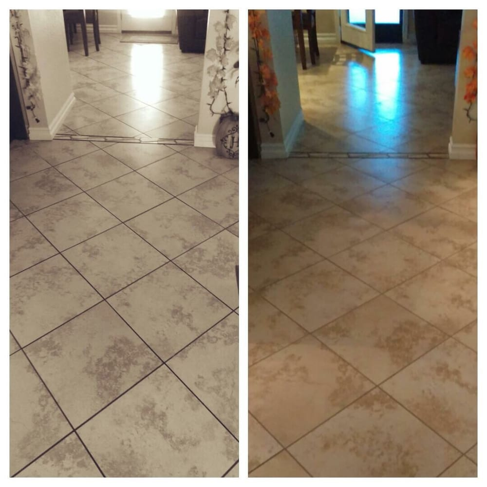 Check Out The Grout Still Dirty On Left Nice And Shiny