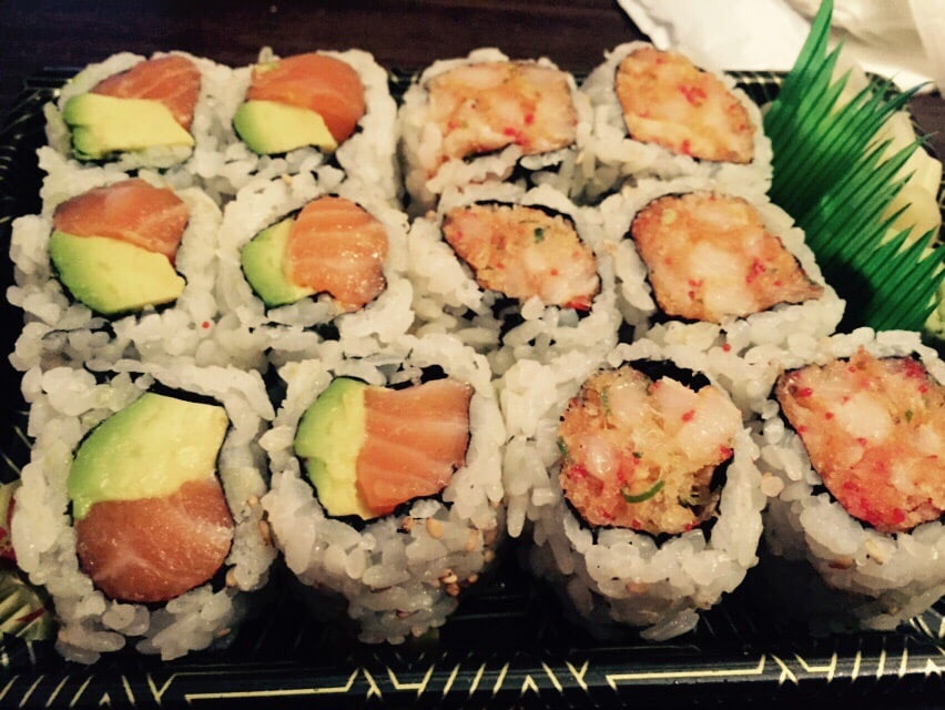 Salmon avocado roll and spicy white tuna roll yelp for Asian cuisine hoboken nj