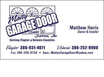 Matty's Garage Door