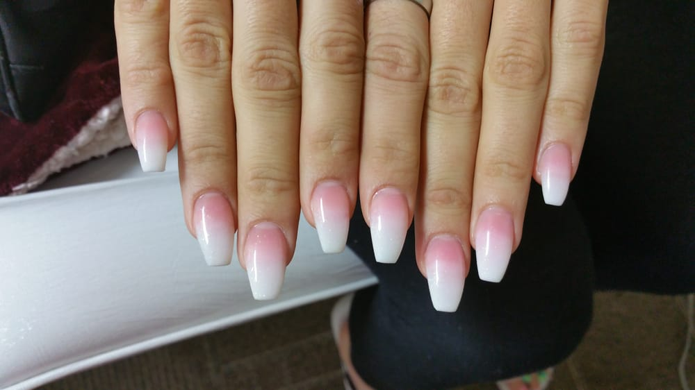 Coffin Nails And Ombre Pink And White Powder Yelp