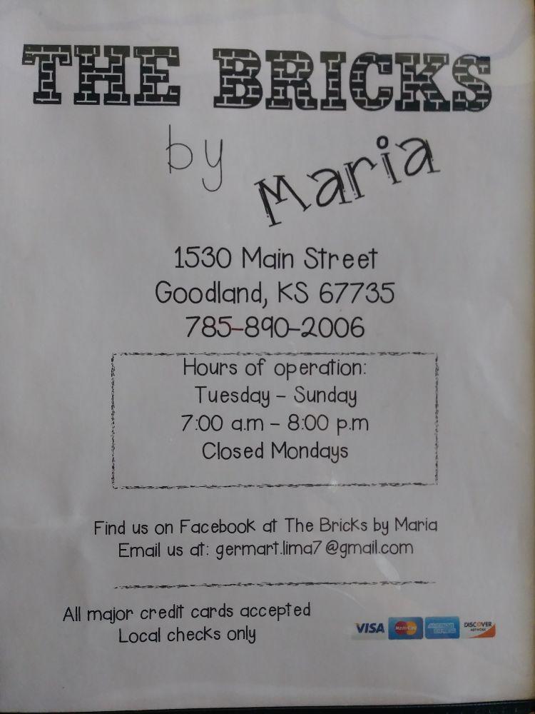 The Bricks by Maria: 1530 Main St, Goodland, KS