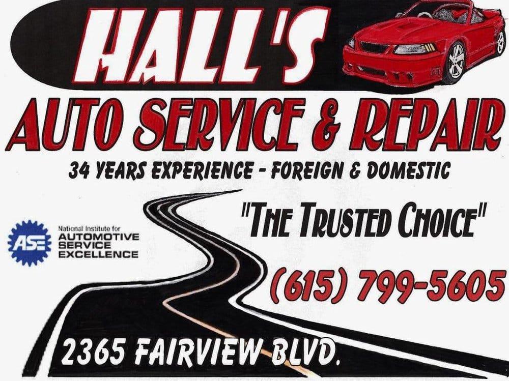 Hall's Auto Service & Repair, LLC: 2365 Fairview Blvd, Fairview, TN