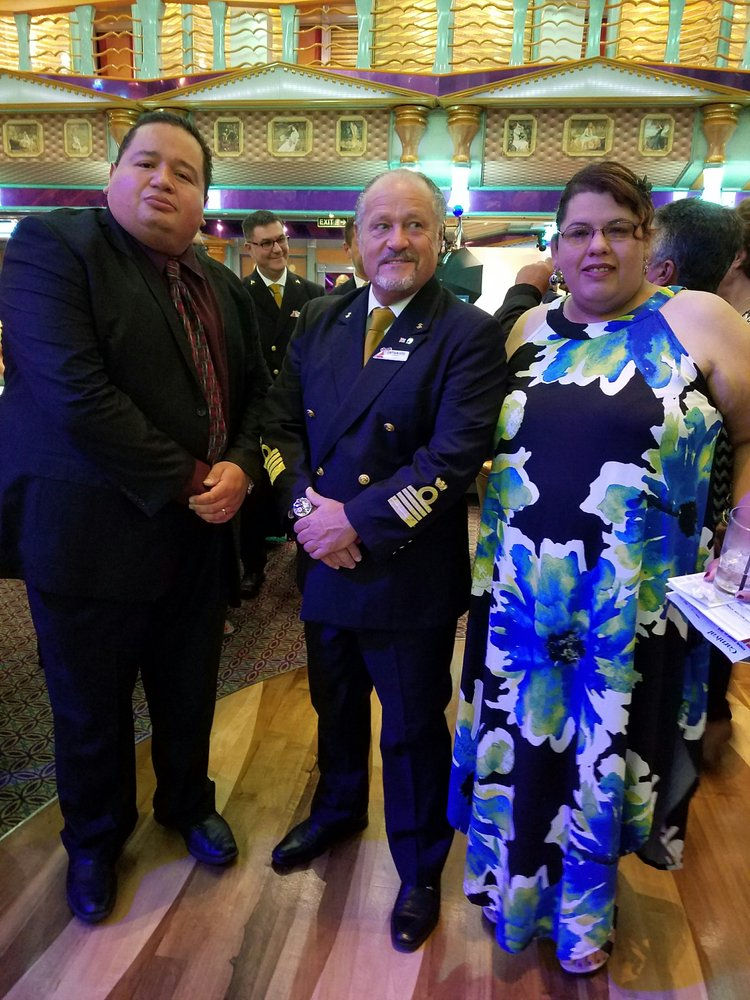My Wife And I With The Captain Of The Carnival Miracle Yelp