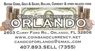 Coins & Currency of Orlando: 2603 Curry Ford Rd, Orlando, FL