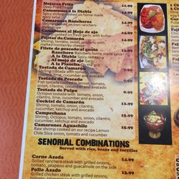 Photo Of Senorial Mexican Restaurant Banning Ca United States Their New Menu