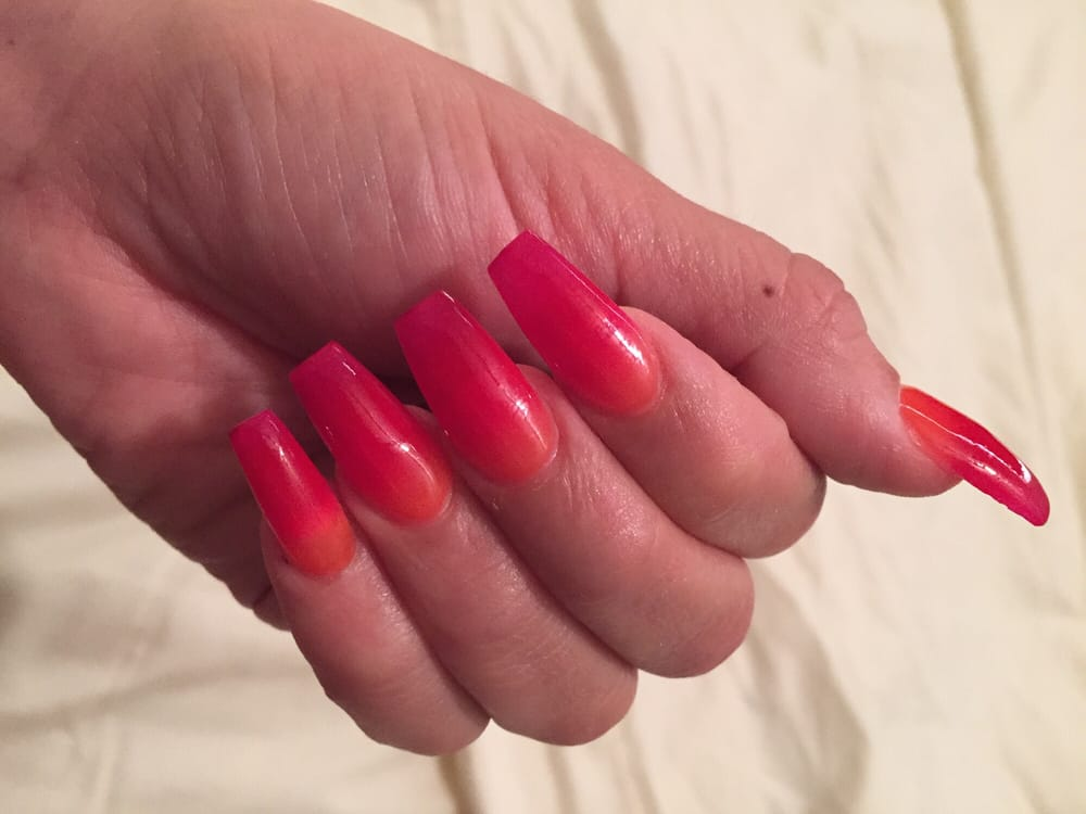 Ombre Fire Nails for my vacation to Los Cabos. Perfectly thinned out ...