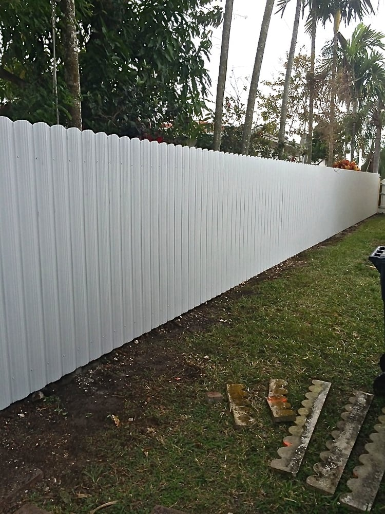 Metal slats privacy fence yelp
