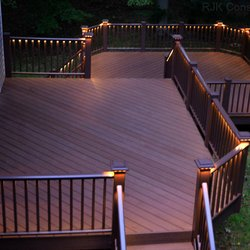 Azek Deck With Stairs And Lighting Photo Of Southland Vinyl Hawthorne Ca United States