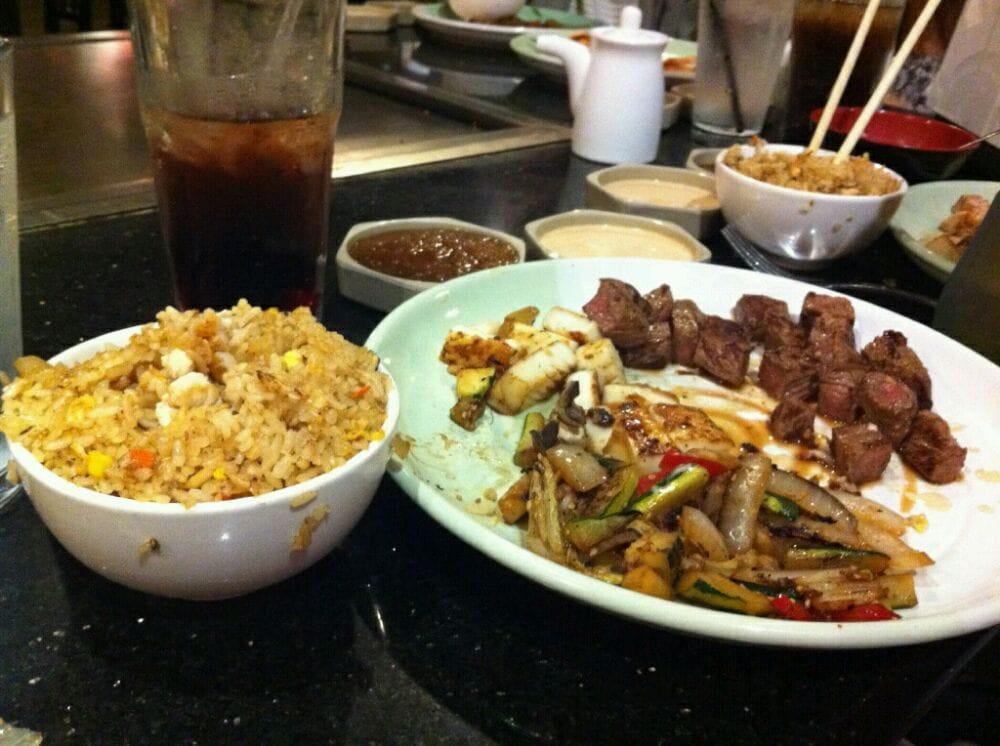 New york steak calamari steak dinner with fried rice yelp - Shogun japanese cuisine ...