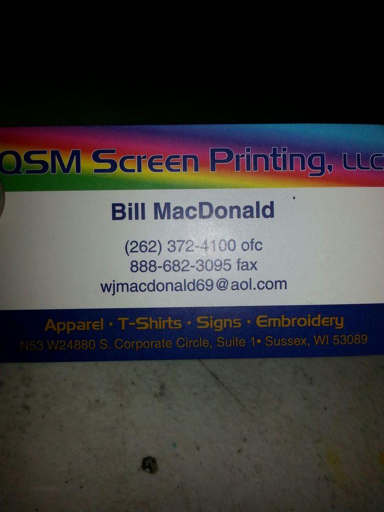 Qsm Screen Printing