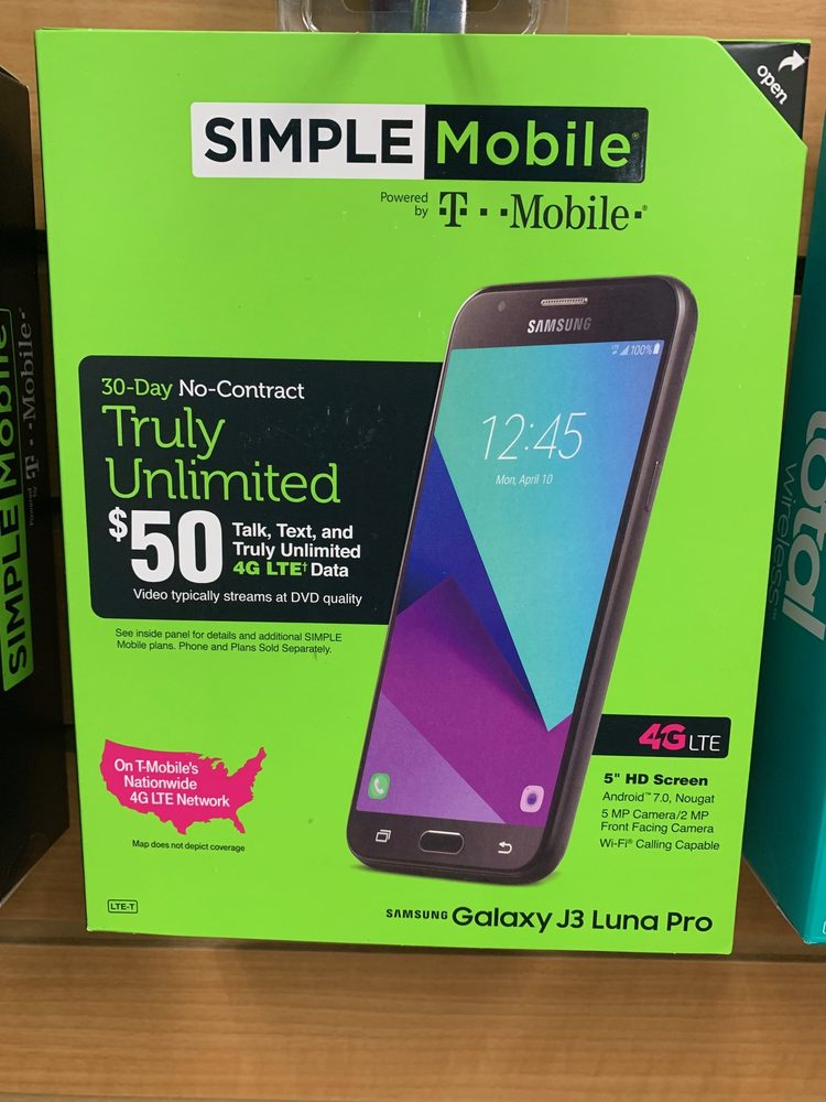 $100: New Galaxy J3, ZTE ZMAX, TCL LX or LG Rebel 4 phone and 1st