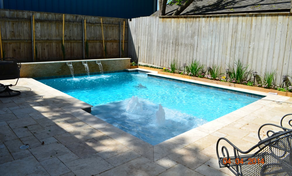 Ledge pool custom vinyl pool with tanning ledge and for Pool design houston tx