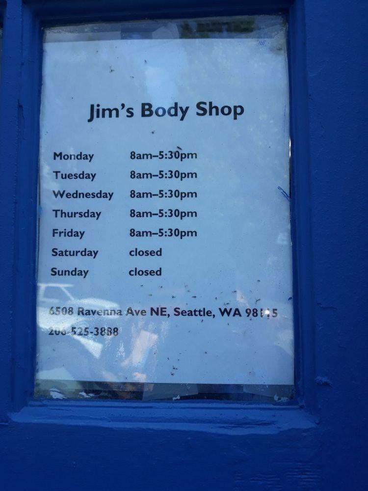 Jim's Body Shop: 6508 Ravenna Ave NE, Seattle, WA