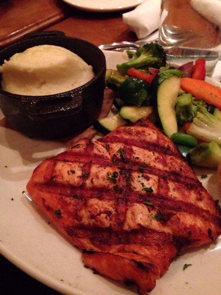 Mash potatoes was absolutely deliciously to eat salmon for King s fish house huntington beach