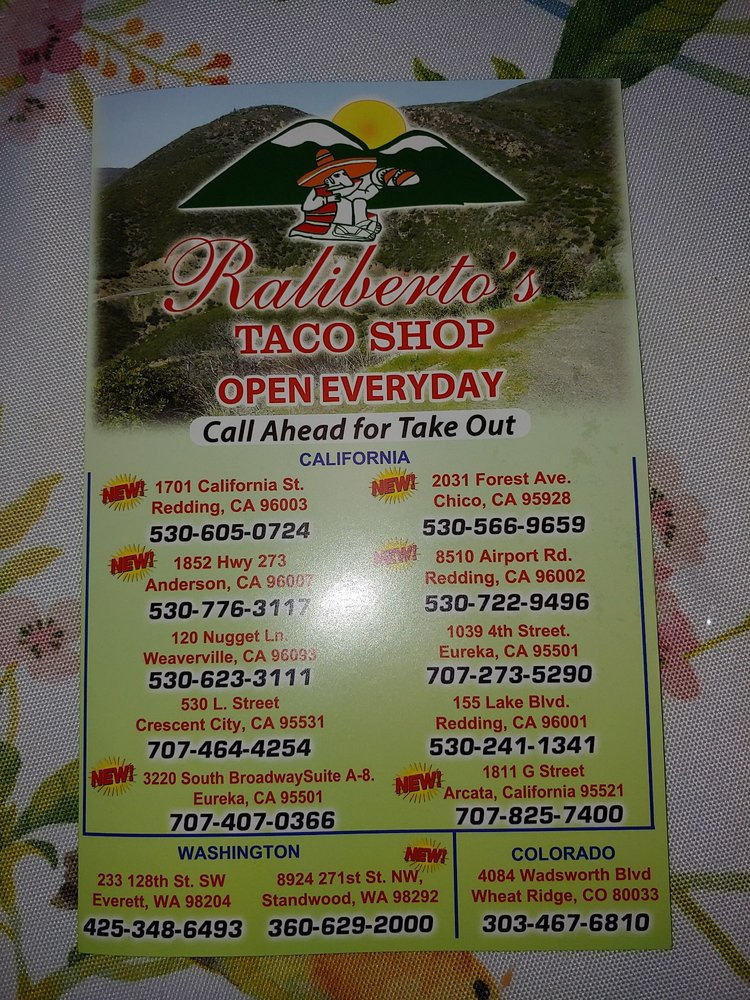 Raliberto's Taco Shop: 3220 Broadway St, Eureka, CA