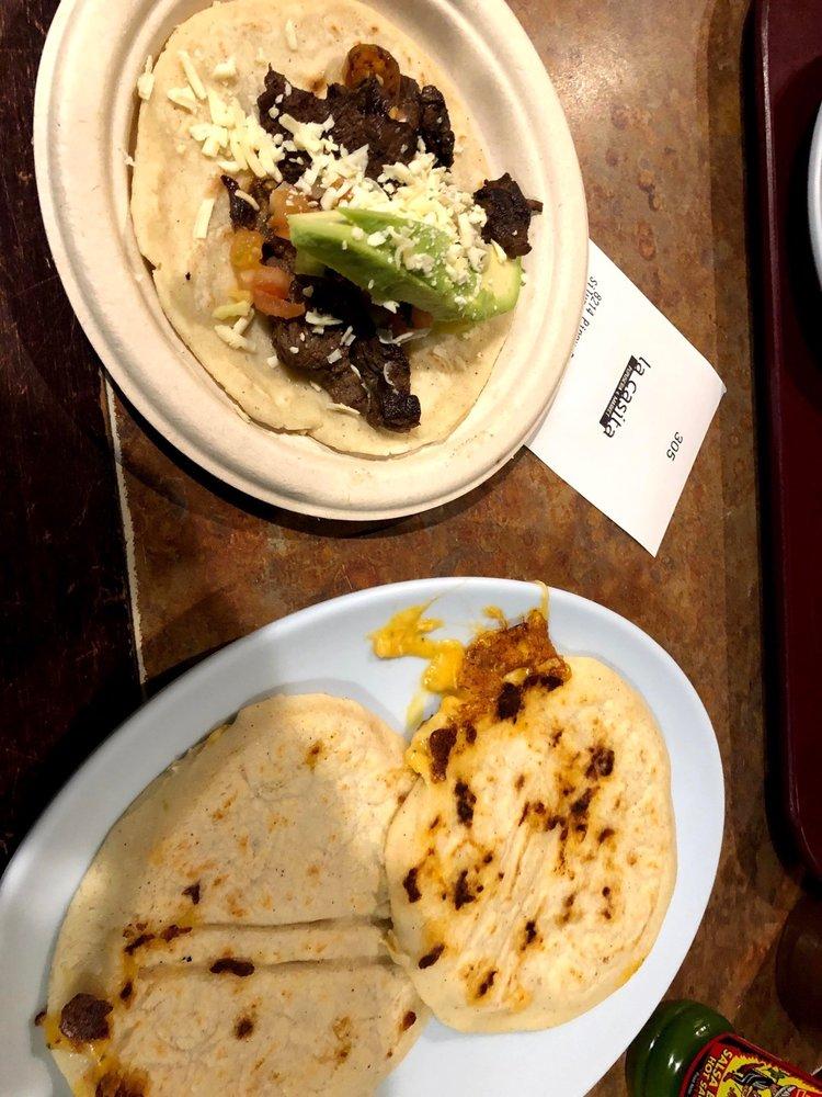 Food from La Casita Pupuseria & Market