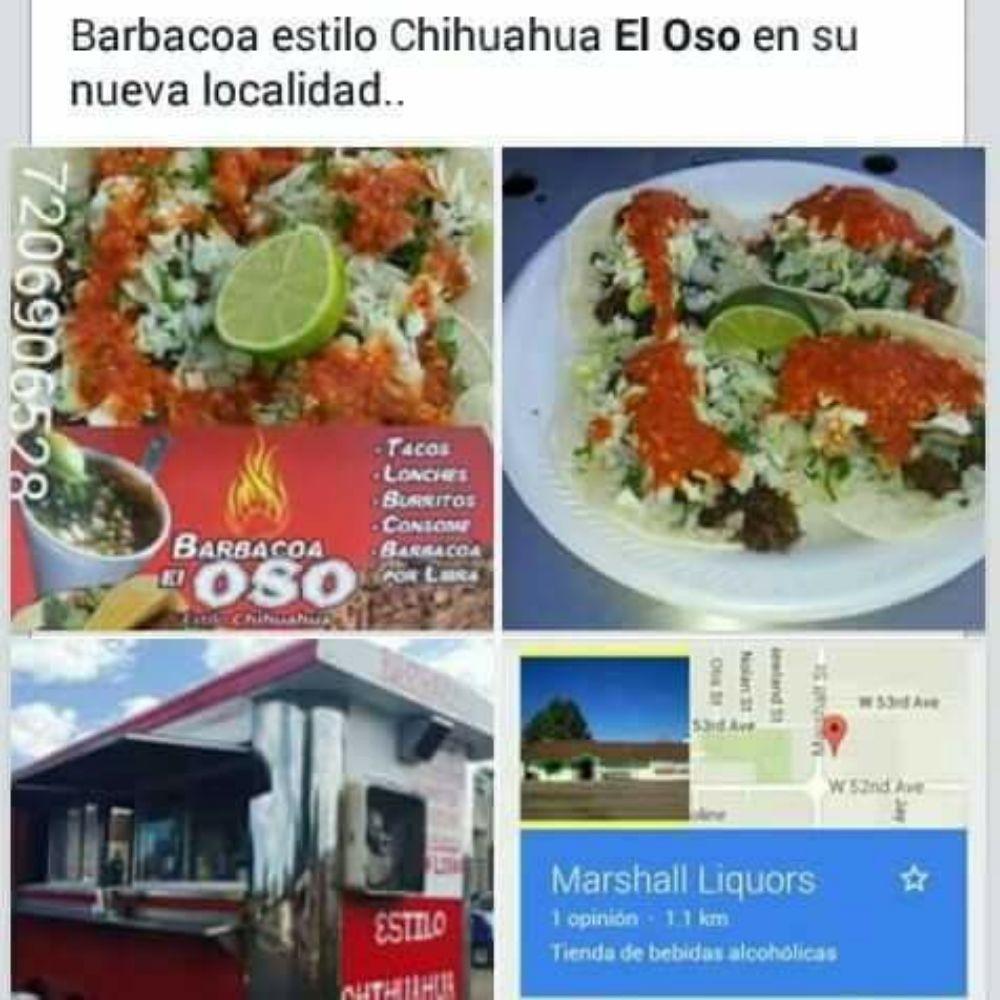 "Barbacoa Estilo Chihuahua ""El Oso"": 6425 W 52nd Ave, Arvada, CO"