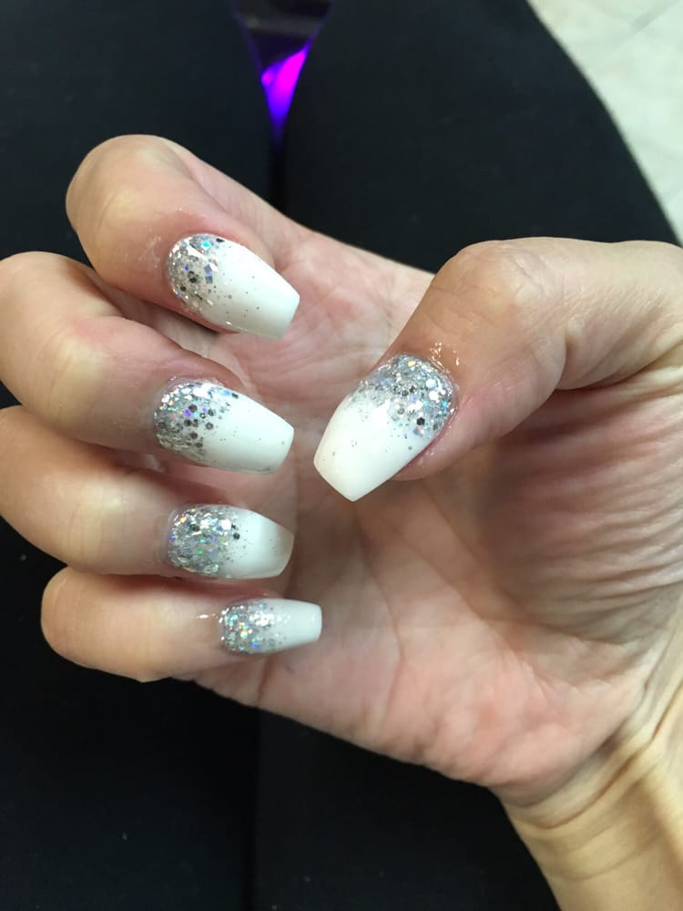 See the acrylic all over the cuticle and around the outside of the ...