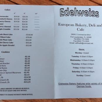 Edelweiss Bakery Cafe Fort Lauderdale Fl