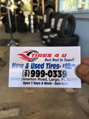 צעיר Tires 4 U New & Use Tires 9590 Ulmerton Rd Largo, FL Tire Dealers ET-05