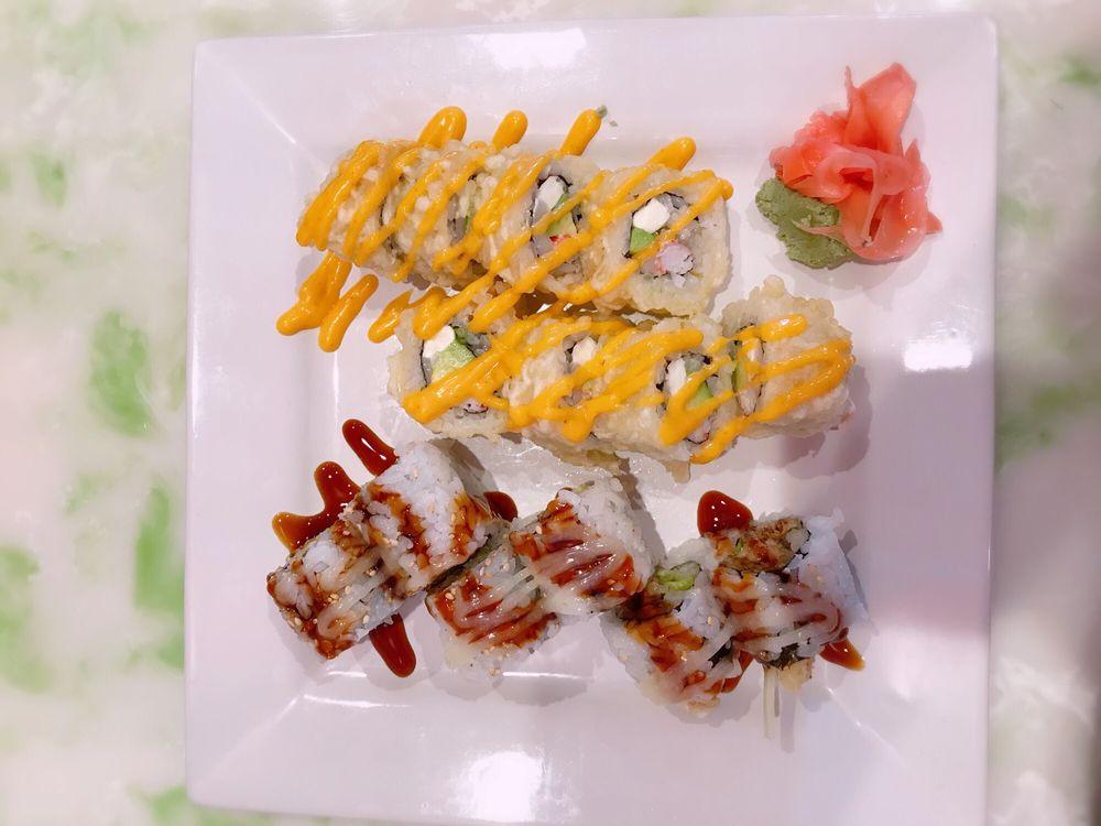 Food from Tokyo Hibachi and Sushi