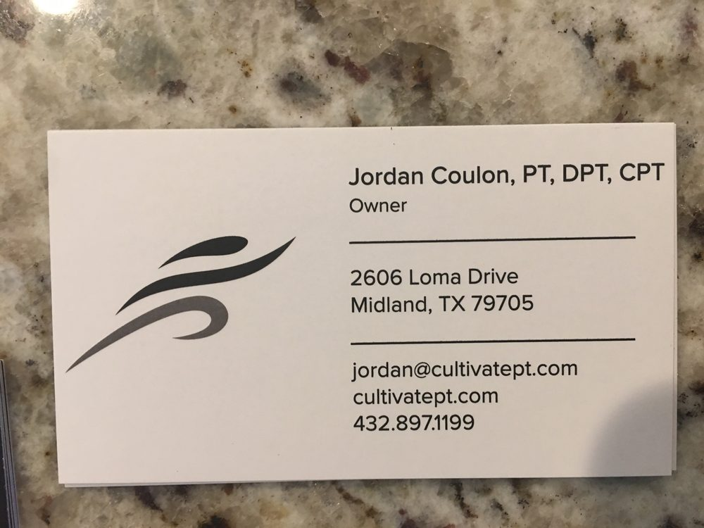 Cultivate Physical Therapy & Motion Lab: 2606 Loma Dr, Midland, TX