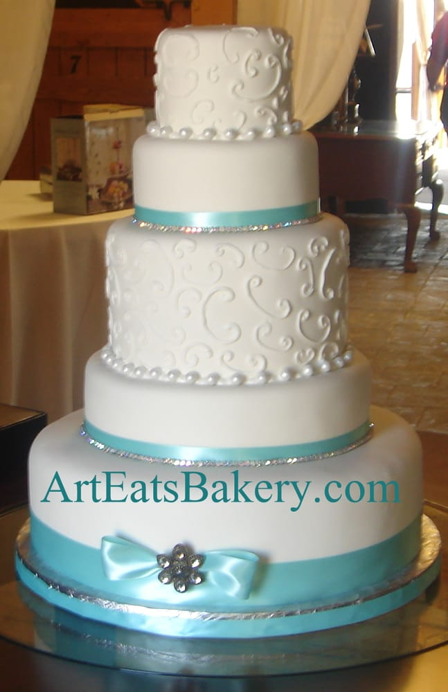 Photo Of Art Eats Bakery   Greenville, SC, United States. 5 Tier White