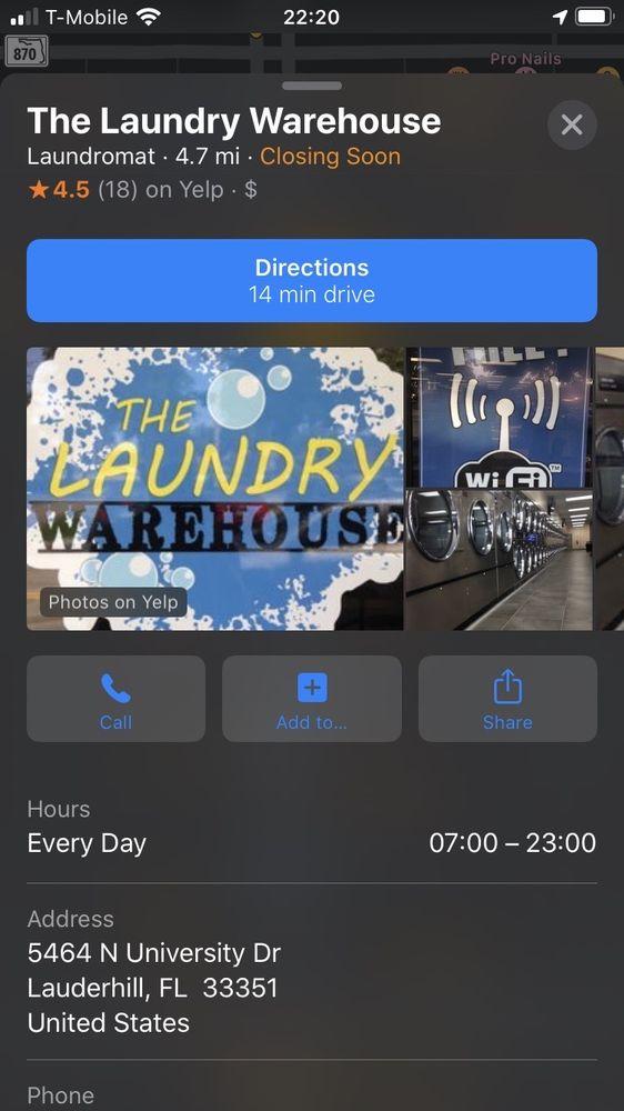 The Laundry Warehouse: 5464 N University Dr, Lauderhill, FL