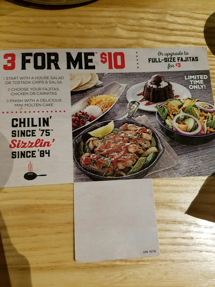 P O Of Chilis Houston Tx United States 3 Course Meal 10