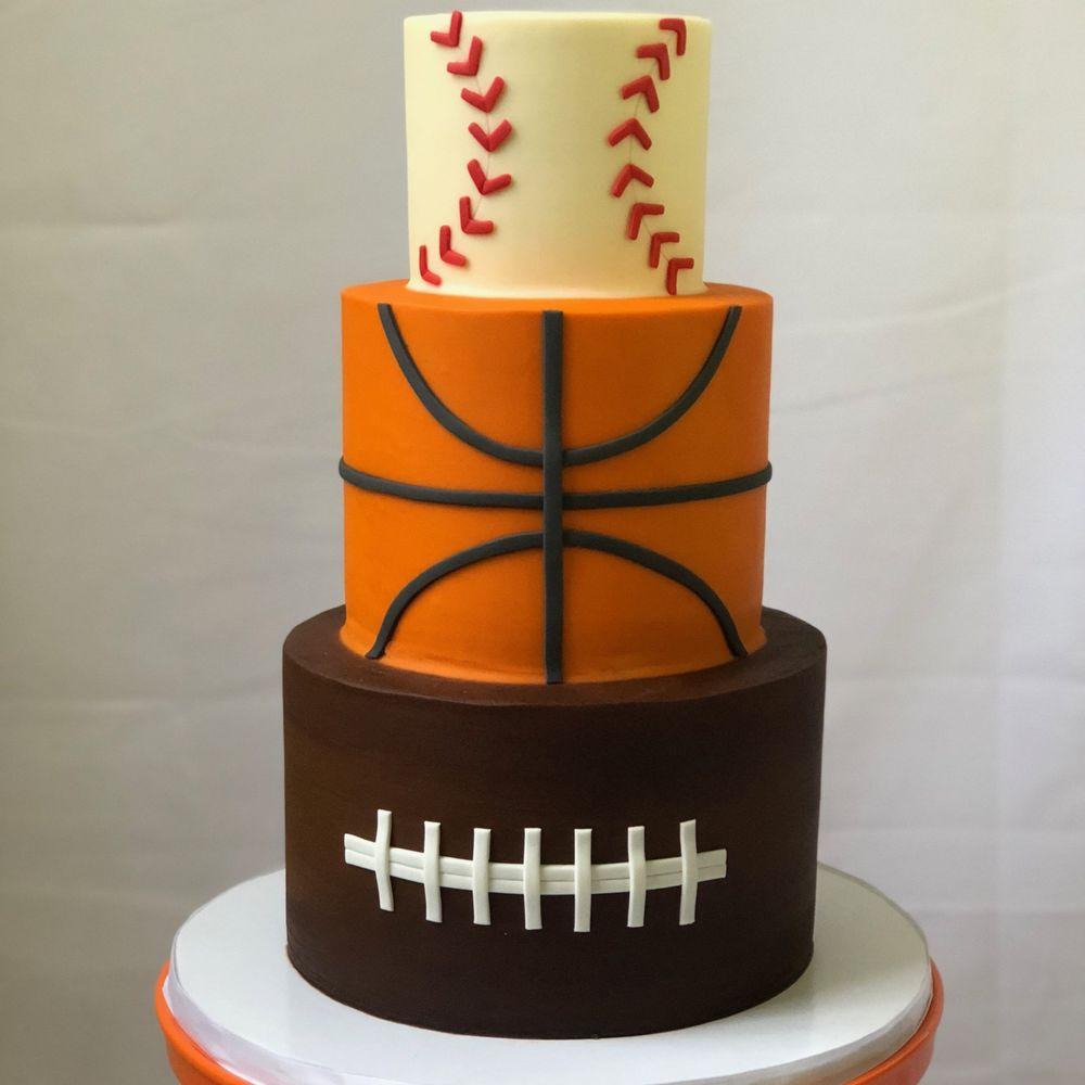 Custom Sports Themed Birthday Cake Yelp