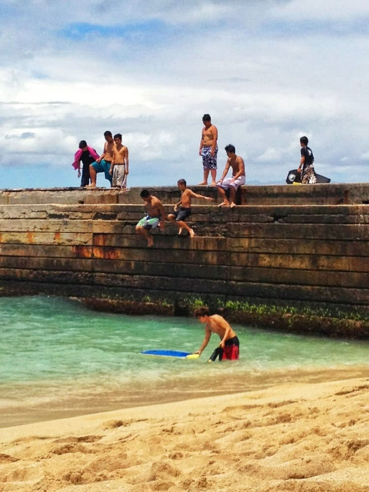 South Beach Queen Bedroom Set Modern: Kids Jumping Off Pier, Into 2' Of Water!