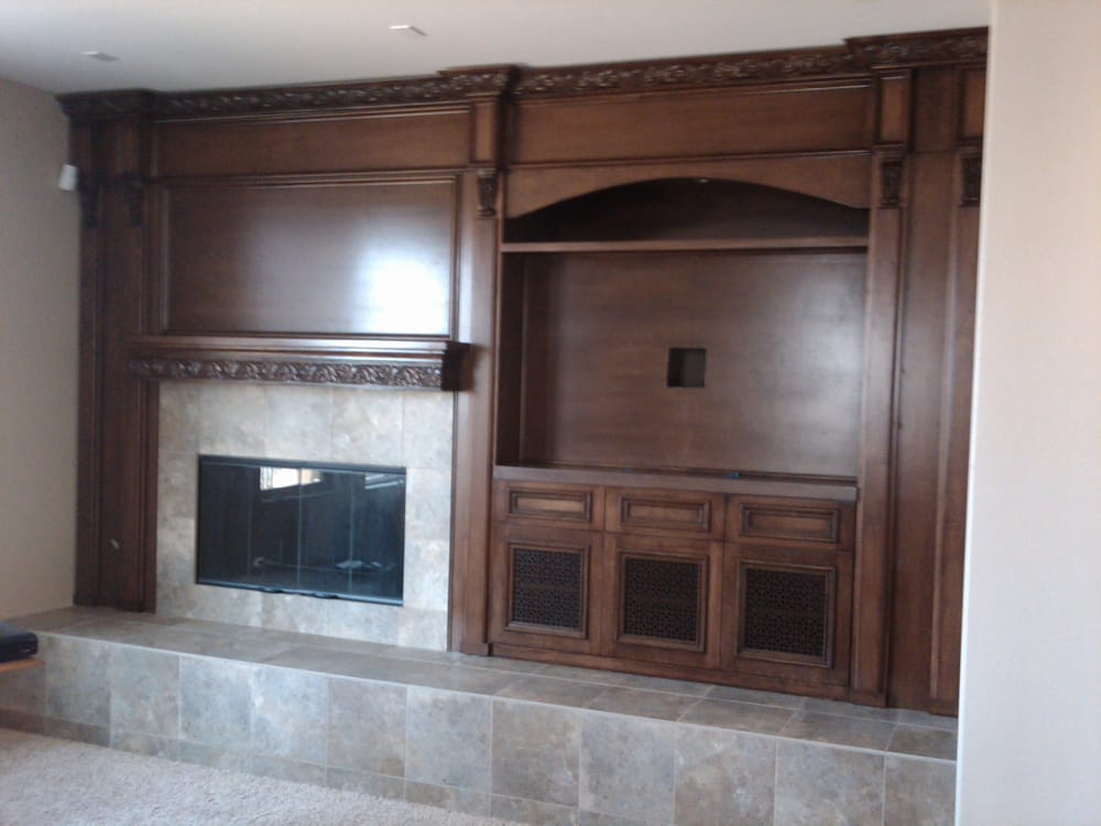 Wall unit for living room and fireplace Yelp