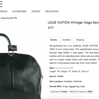 Fashionphile Photos Reviews Vintage Second Hand - Making an invoice in word gucci outlet store online