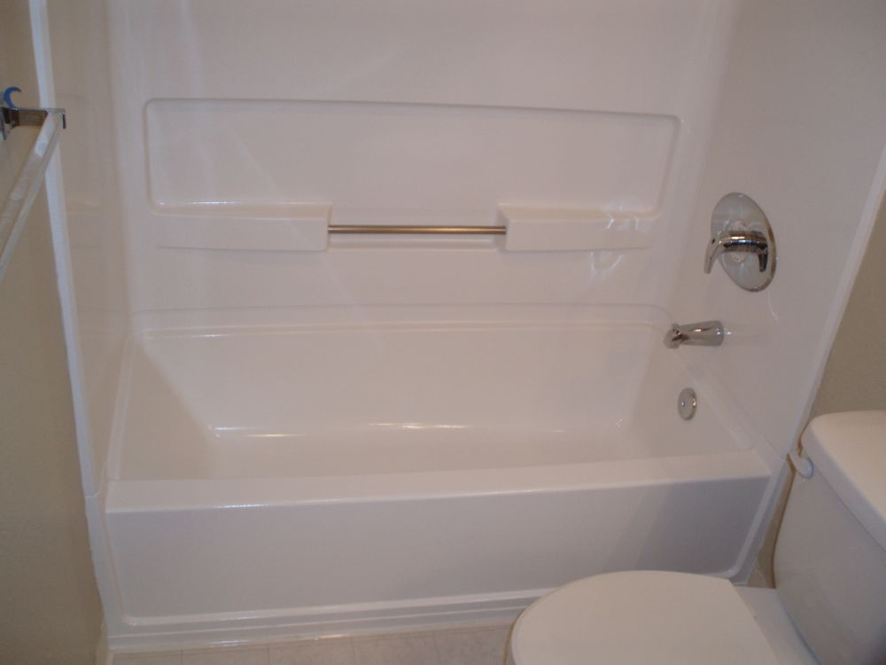 Fiberglass all in one tub and tub-surround. - Yelp