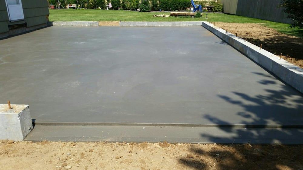 Concrete slab concrete garage slab yelp for Concrete slab for garage