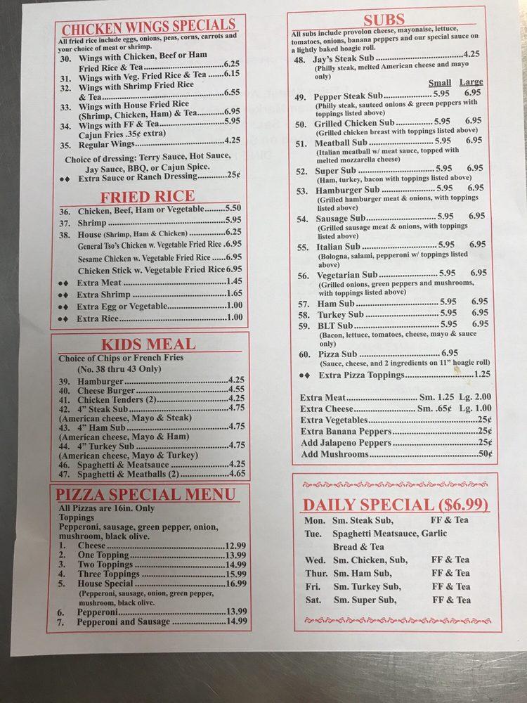 Little J's Pizza & Subs: 249 W 3rd St, Ayden, NC