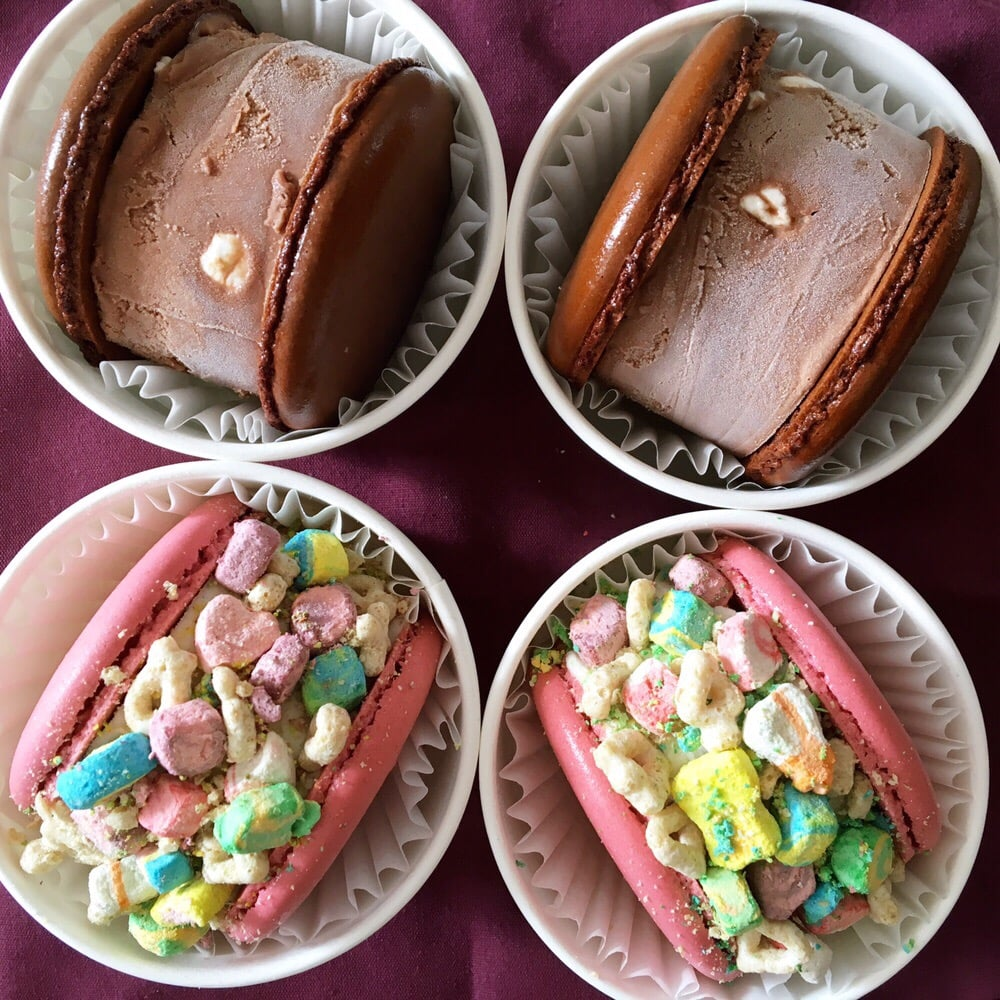 ... United States. Rocky road & Lucky charms macaron ice cream sandwiches