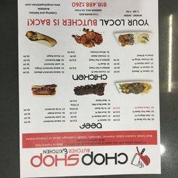Menu For Butchers Kitchen Broseley : Photos for Chop Shop Butcher & Kitchen Menu - Yelp