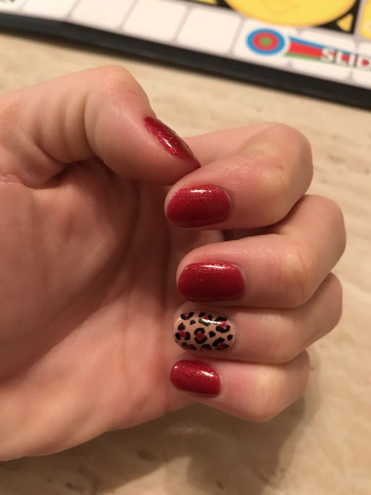 Perfect Mani Cheetah Gel Nails A Girl Could Ask For Yelp