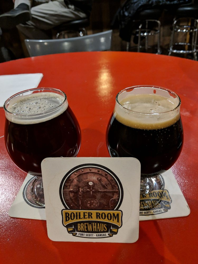 The Boiler Room Brewhaus: 2 S National Ave, Fort Scott, KS