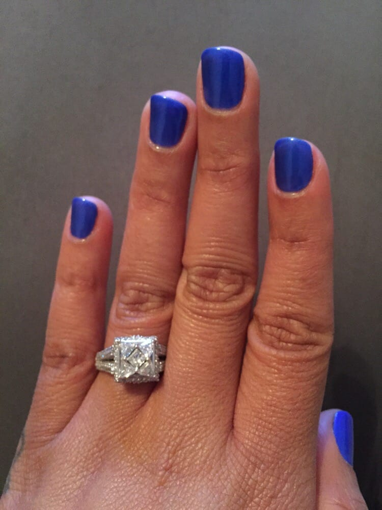 Great place. Gel nails...royal blue #46..Cute.. - Yelp