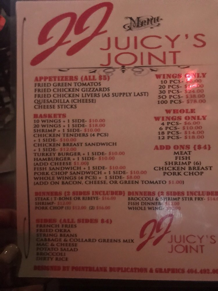 juicy joint: 4019 Glenwood Rd, Decatur, GA