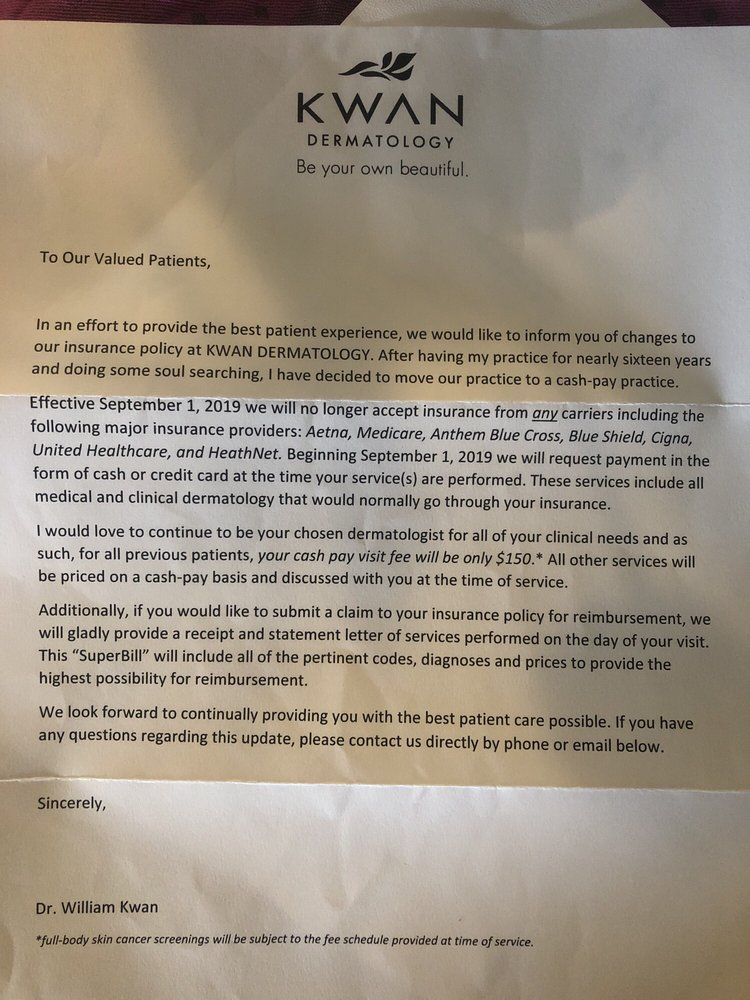 Letter I received telling me insurance will no longer be