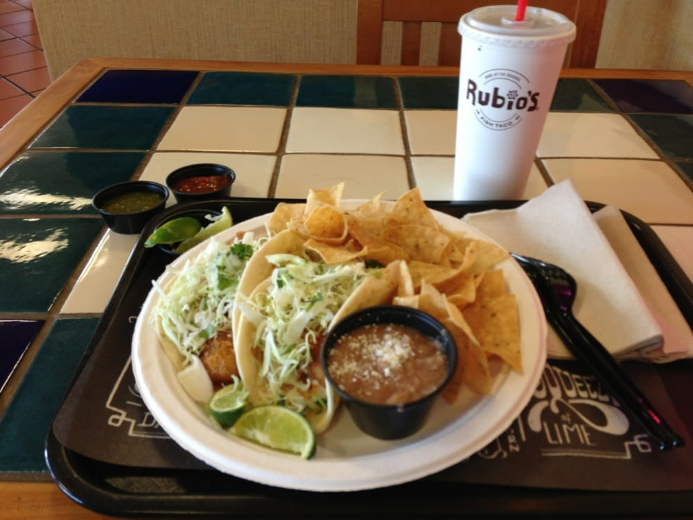 two fish taco especial combo with flour tortillas yelp