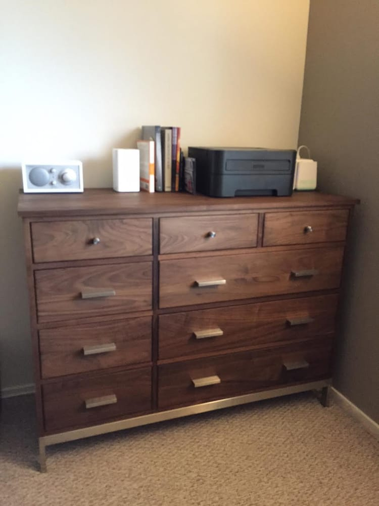 Linear Dresser, Walnut (not veneer) used in my home office. - Yelp