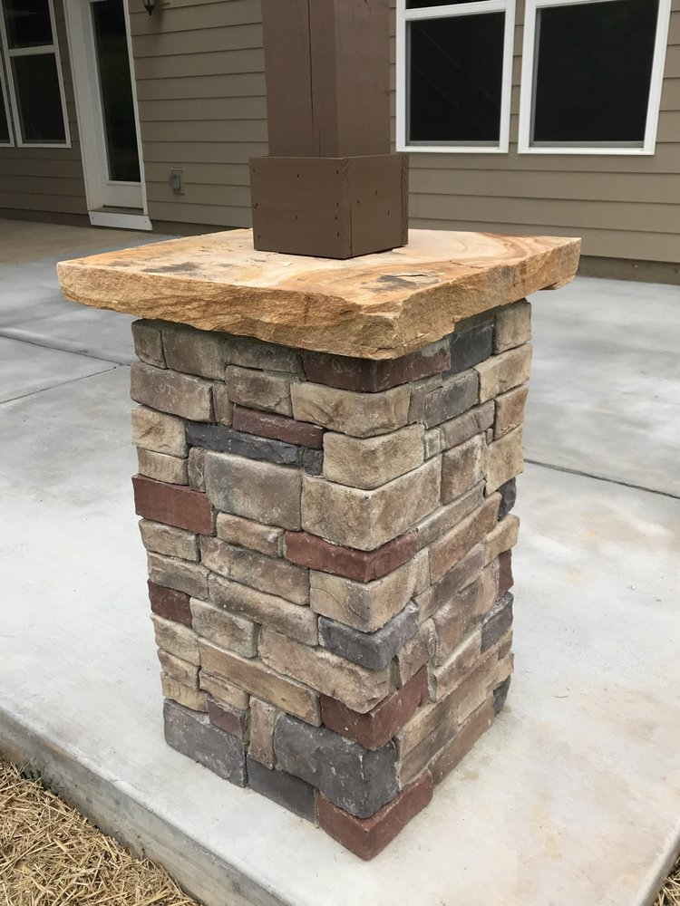 Photo Of Deck Plus Matthews Nc United States Manufacturing Stone Column And