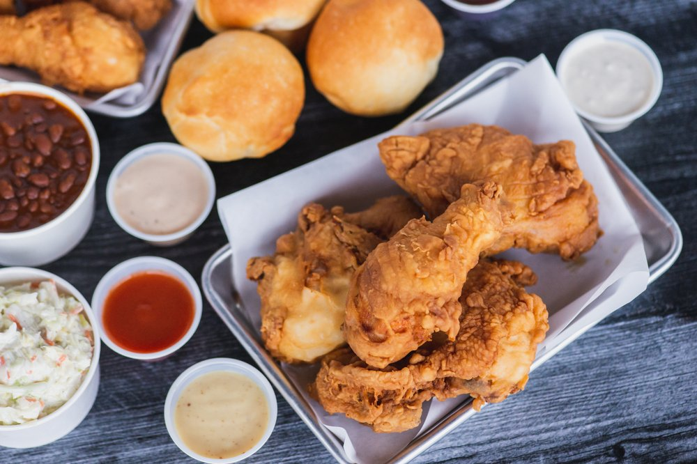 Food from Ezell's Famous Chicken
